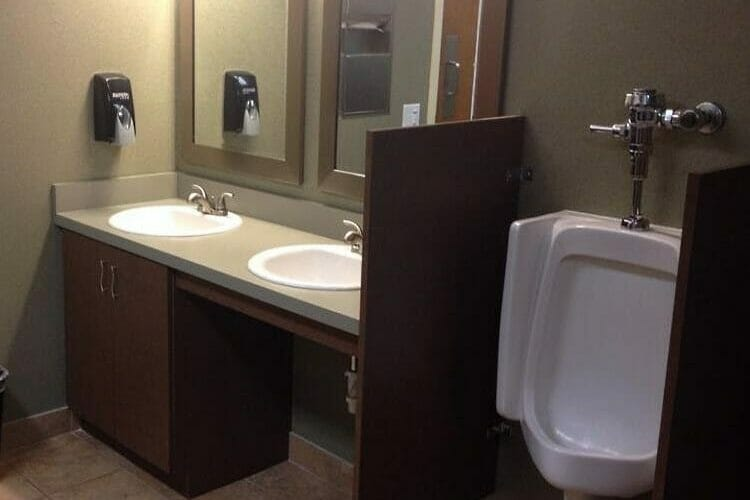 Commercial Bathroom with Urinals | Springhill Kitchen & Bath | Custom, Budget, & Commercial Cabinetry | Gainesville, FL