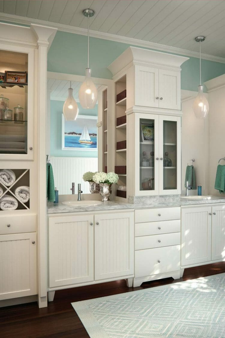 Beach House Casual Bathroom Cabinetry | Springhill Kitchen & Bath | Custom, Budget, & Commercial Cabinetry | Gainesville, FL | Featuring Waypoint Living Spaces