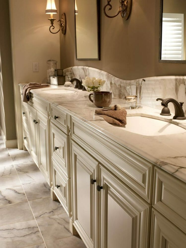Classic Bathroom Cabintet Vanity   Springhill Kitchen & Bath   Custom, Budget, & Commercial Cabinetry   Gainesville, FL   Featuring Waypoint Living Spaces