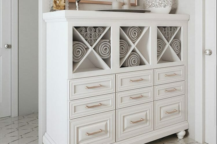 Custom Traditional White Dresser Cabinet | Springhill Kitchen & Bath | Custom, Budget, & Commercial Cabinetry | Gainesville, FL | Featuring Waypoint Living Spaces