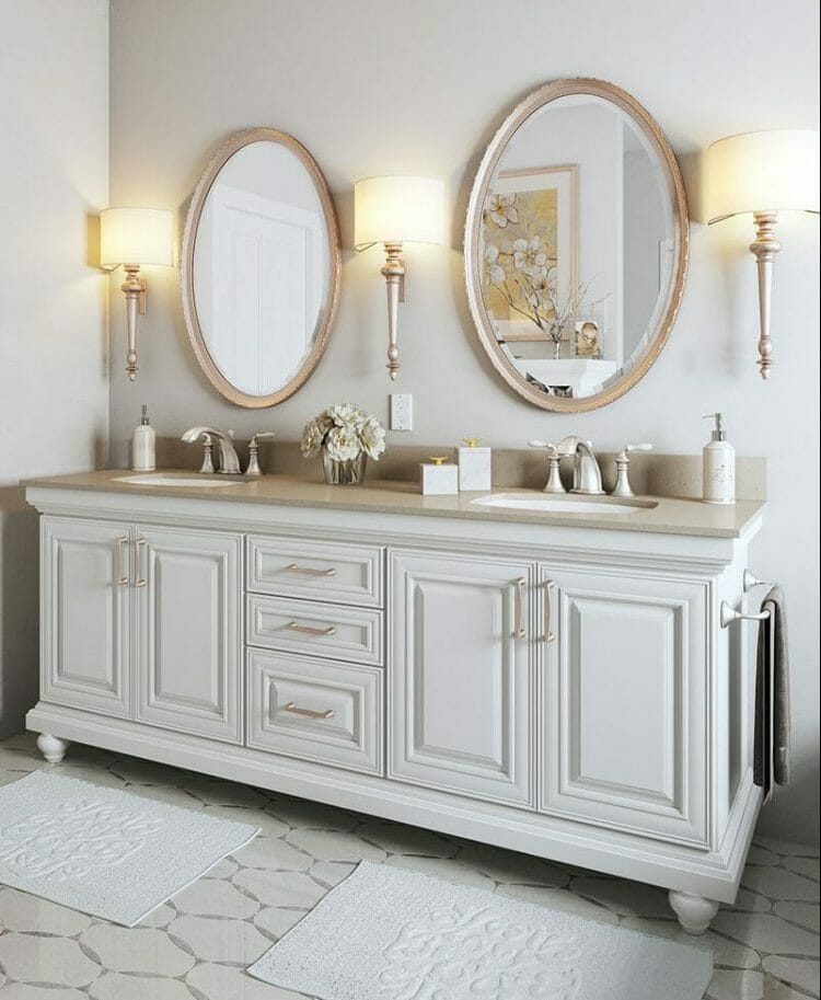 Elegant Bathroom Vanity   Springhill Kitchen & Bath   Custom, Budget, & Commercial Cabinetry   Gainesville, FL   Featuring Waypoint Living Spaces