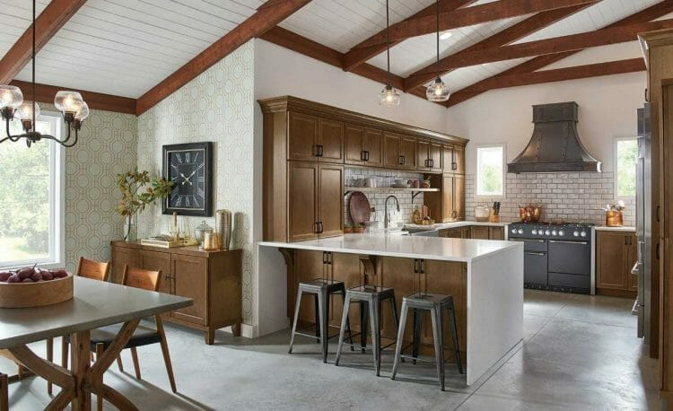 Traditional Maple Truffle Farmhouse Kitchen | Springhill Kitchen & Bath | Custom, Budget, & Commercial Cabinetry | Gainesville, FL | Featuring Waypoint Living Spaces