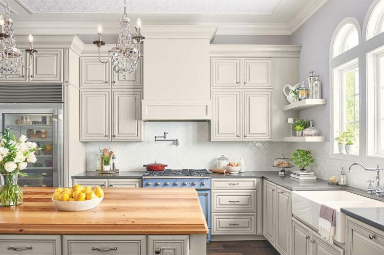 French Beauty Traditional Farmhouse Kitchen | Springhill Kitchen & Bath | Custom, Budget, & Commercial Cabinetry | Gainesville, FL | Featuring Waypoint Living Spaces