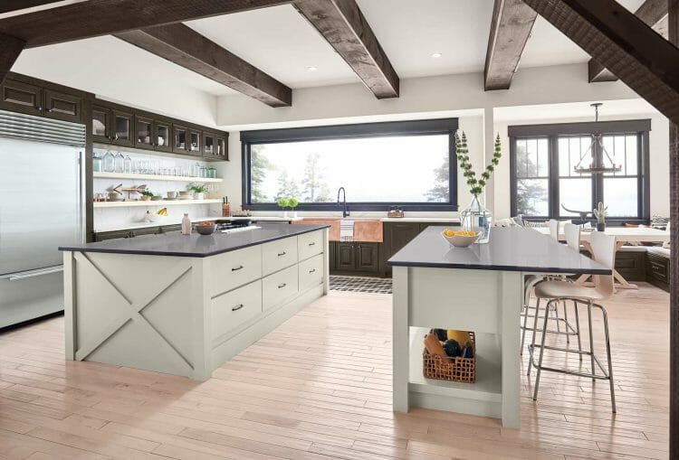 Fresh Character Farmhouse Formal Kitchen Cabinets | Springhill Kitchen & Bath | Custom, Budget, & Commercial Cabinetry | Gainesville, FL | Featuring Waypoint Living Spaces