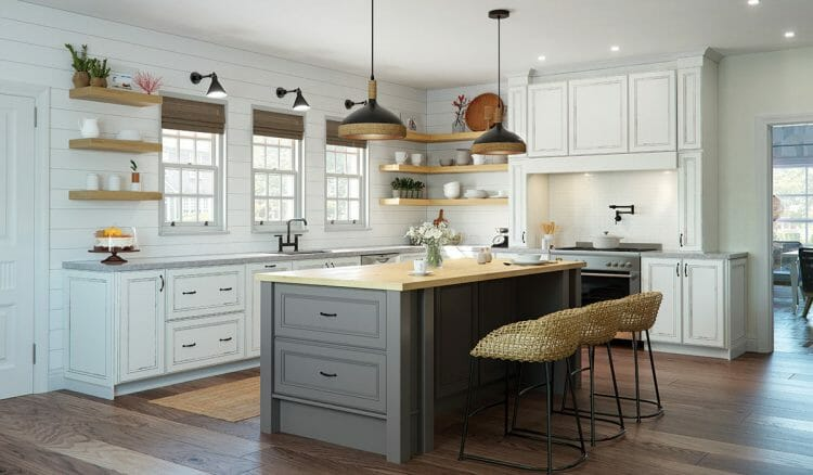 Refreshingly Relaxed Farmhouse Casual Kitchen Cabinets | Springhill Kitchen & Bath | Custom, Budget, & Commercial Cabinetry | Gainesville, FL | Featuring Waypoint Living Spaces