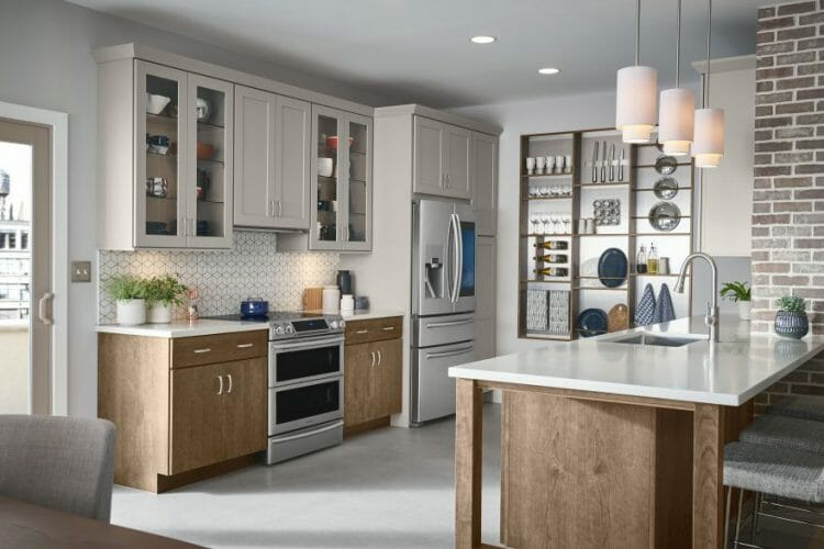 Traditional Mission Compact Casual Kitchen | Springhill Kitchen & Bath | Custom, Budget, & Commercial Cabinetry | Gainesville, FL | Featuring Medallion Cabinetry