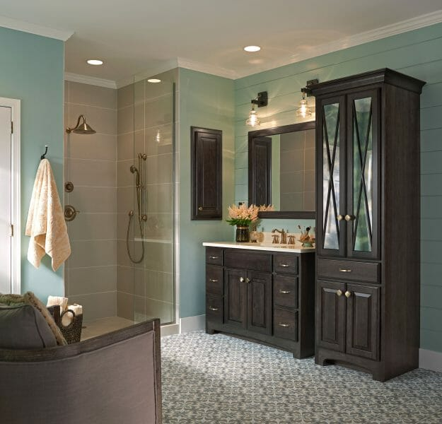 Classic Bathroom Vanity | Springhill Kitchen & Bath | Custom, Budget, & Commercial Cabinetry | Gainesville, FL | Featuring Medallion Cabinetry