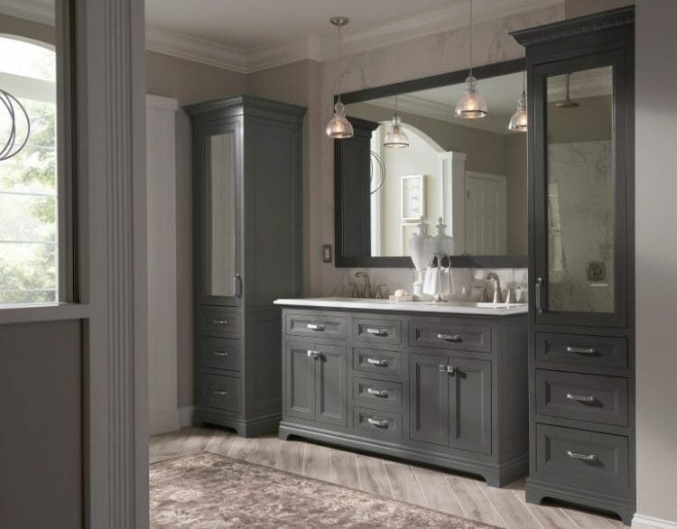 Elegant Modern Bathroom Vanity | Springhill Kitchen & Bath | Custom, Budget, & Commercial Cabinetry | Gainesville, FL | Featuring Medallion Cabinetry