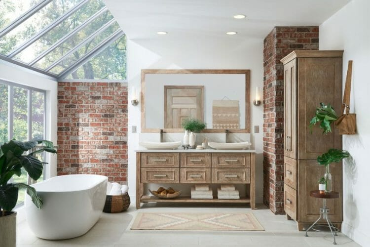 Contemporary Spa Bathroom Vanity | Springhill Kitchen & Bath | Custom, Budget, & Commercial Cabinetry | Gainesville, FL | Featuring Medallion Cabinetry