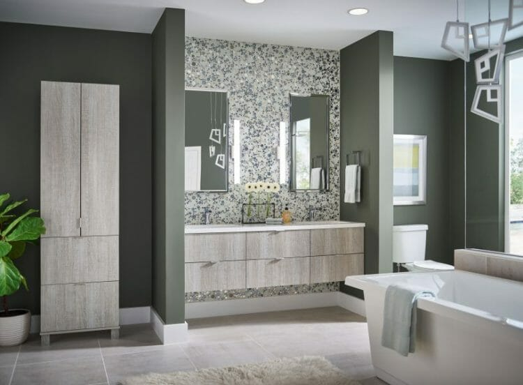 Ultra Modern Spa Bathroom Vanity | Springhill Kitchen & Bath | Custom, Budget, & Commercial Cabinetry | Gainesville, FL | Featuring Medallion Cabinetry