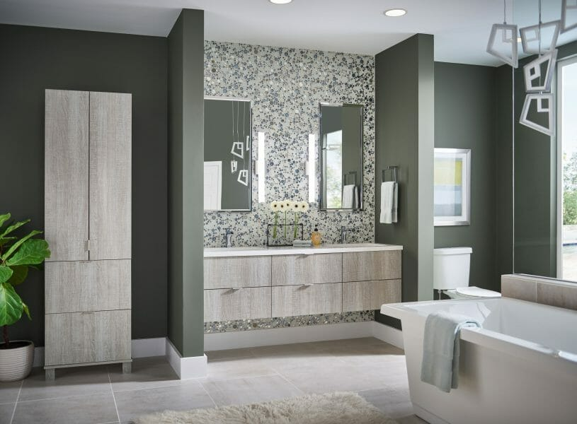 Ultra Modern Bathroom Vanity | Modern Spa Bathroom Vanity - | Springhill Kitchen & Bath | Custom, Budget, & Commercial Cabinetry | Gainesville, FL | Featuring Medallion Cabinetry