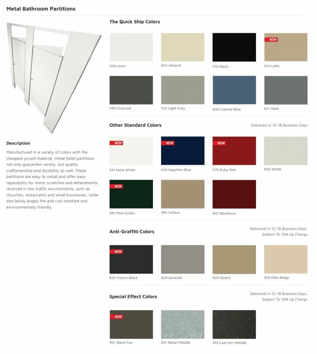 Metal Bathroom Partitions - Commercial Cabinet Design - Springhill Kitchen & Bath